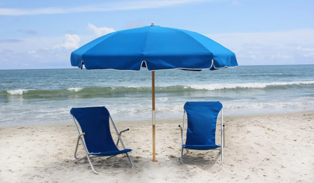 Barefoot Cabanas Sunset Beach Chair Umbrella Rentals